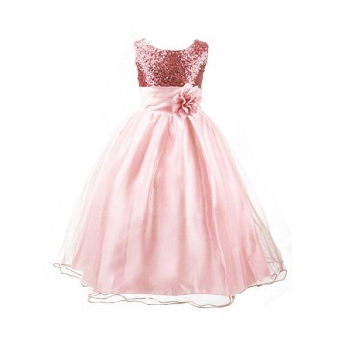 Dívčí společenské šaty růžové 5-6 let 74de5448423