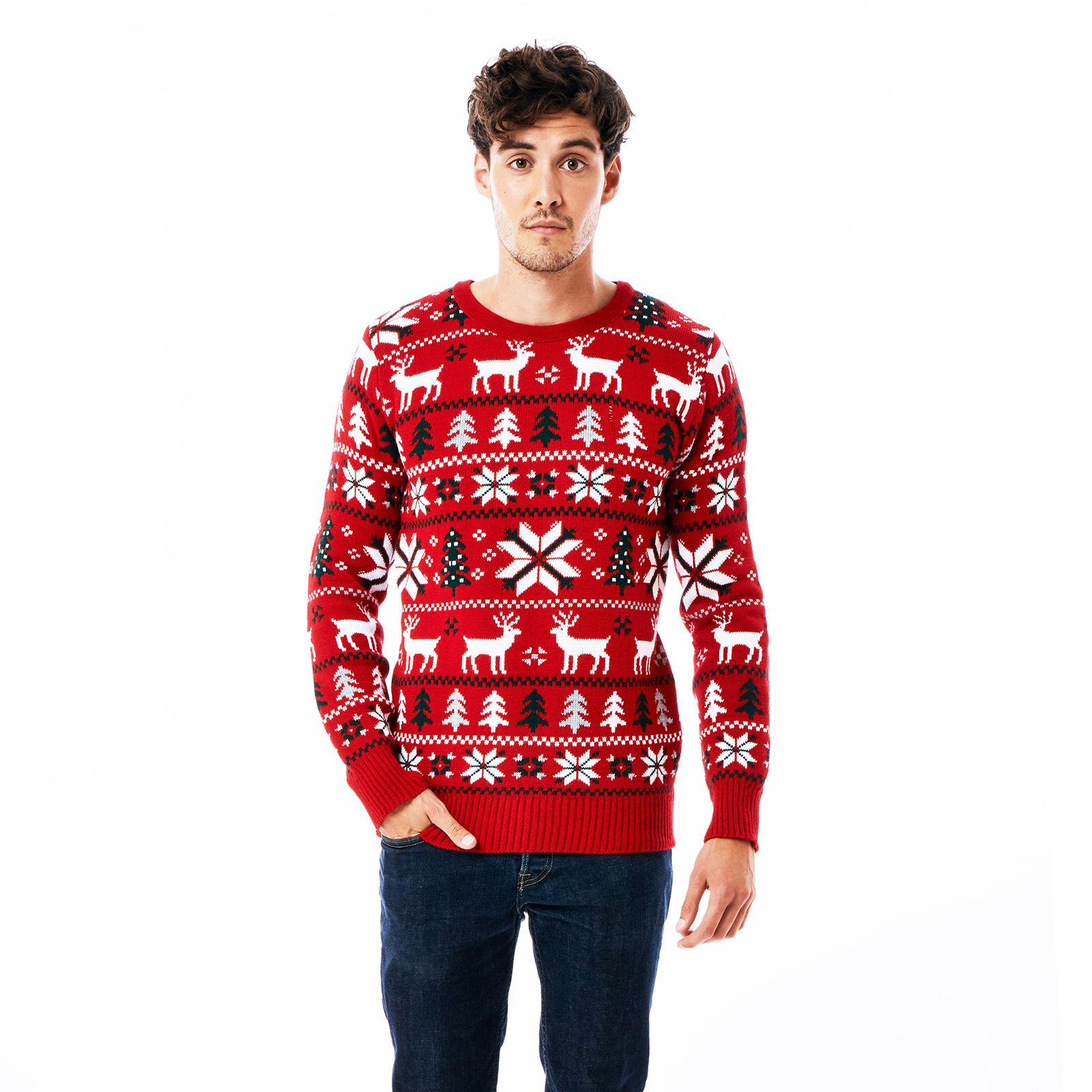 67060d9d660 Vánoční svetr Klasik červený
