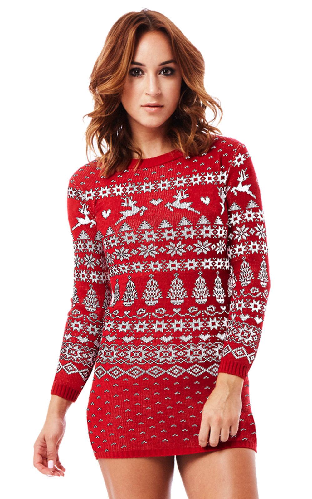 a237d8caaed Dámský svetr s norským vzorem červený