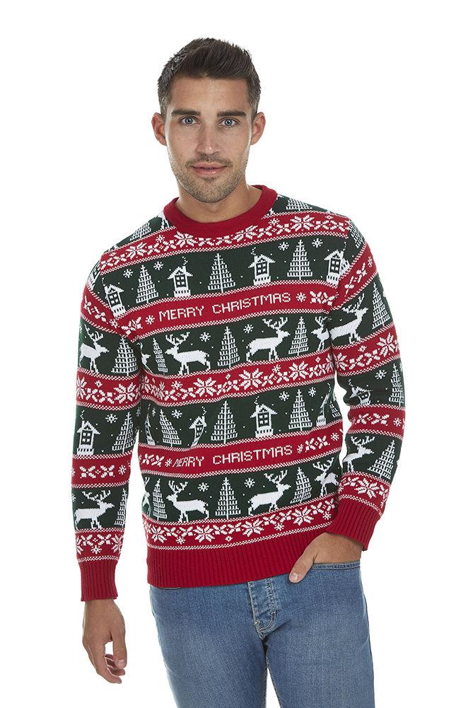 34a867e2143 Vánoční svetr Klasik zelený