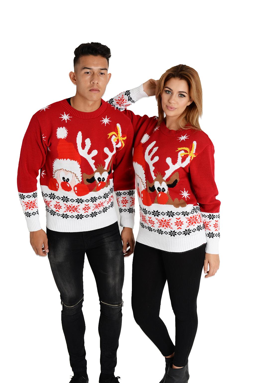 ff068f370ff Vánoční svetr Rudolf a Santa červený empty