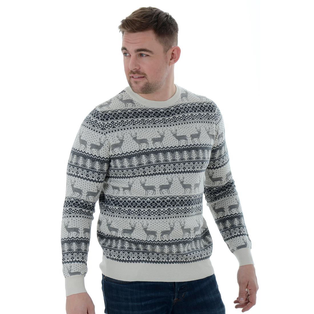 Vánoční svetr s norským vzorem šedý empty 26c1e8ef1d