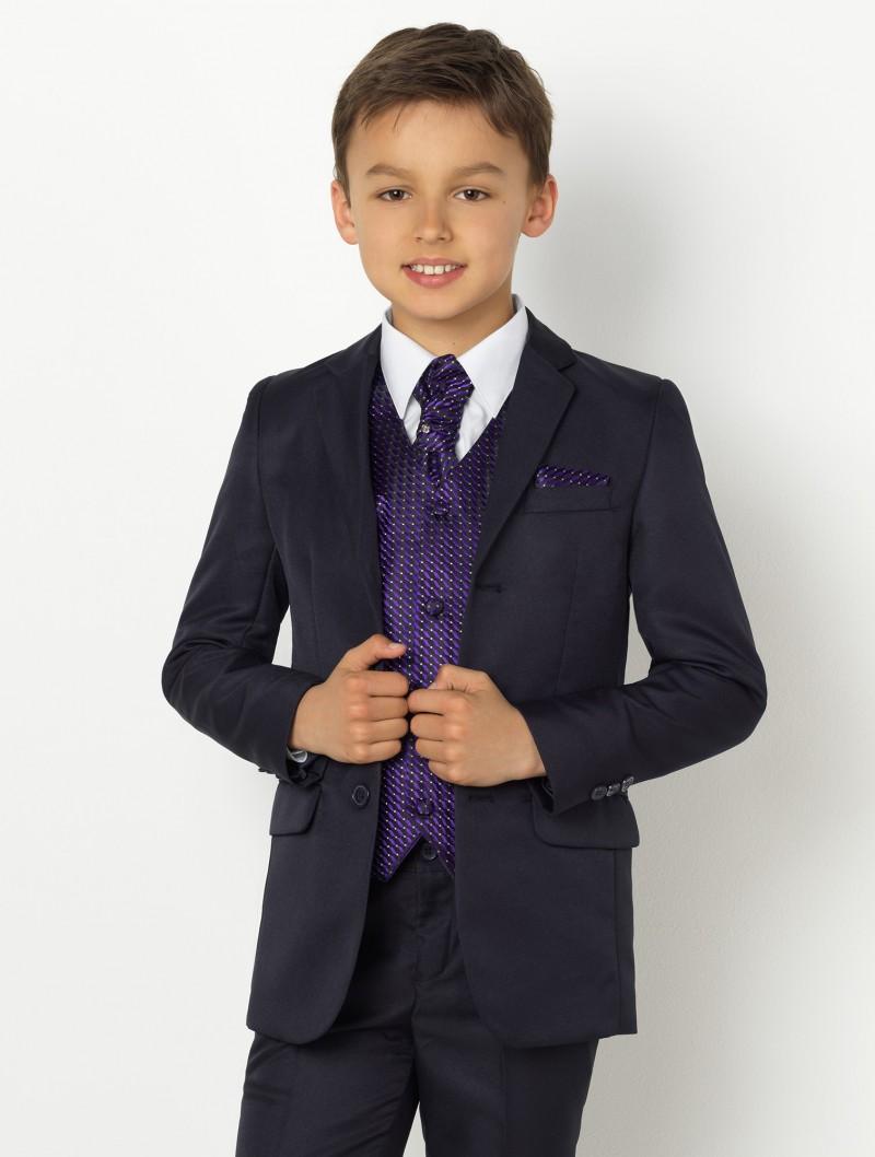 Chlapecký oblek Samuel tmavě modrý empty b2b9443926