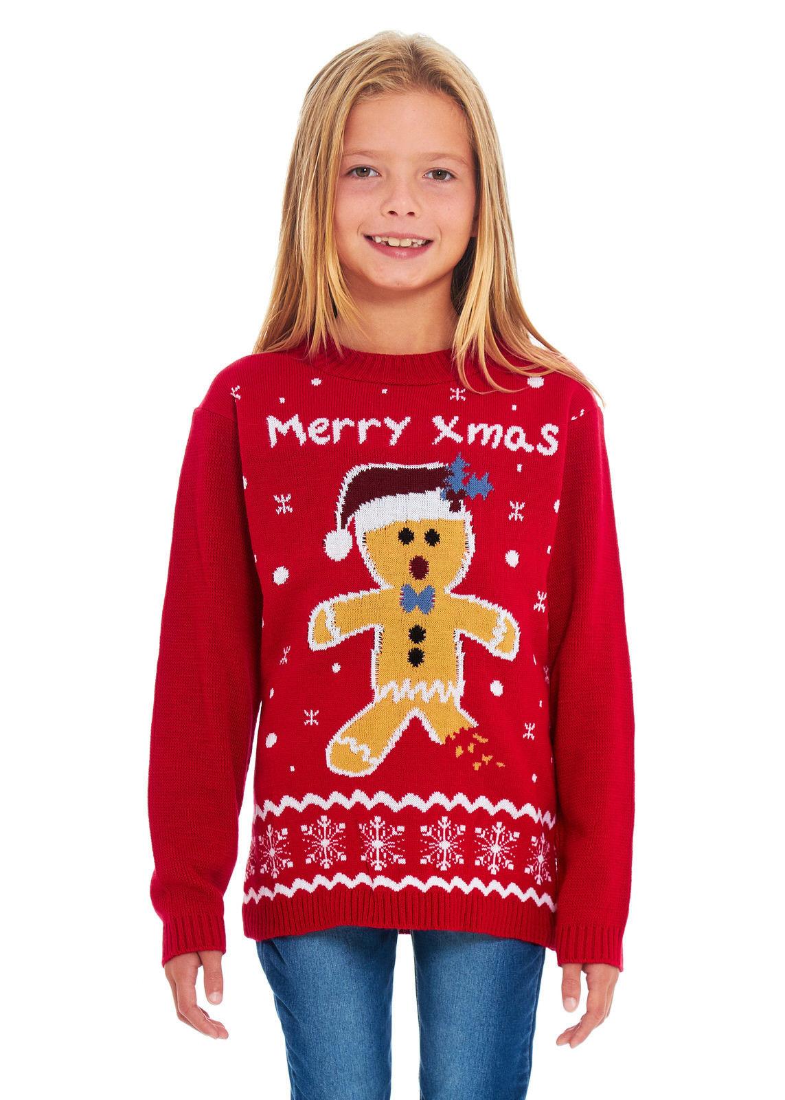 Dětský vánoční svetr Perníček červený 5fa8276db1