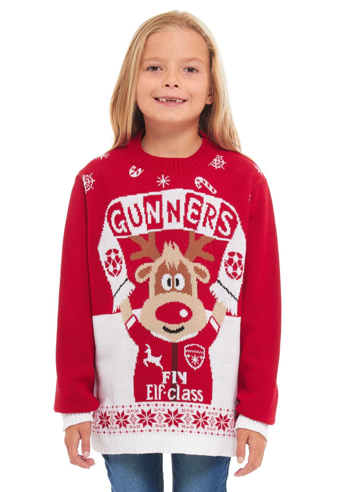 2cd65582ac4 Dětský vánoční svetr Arsenal empty