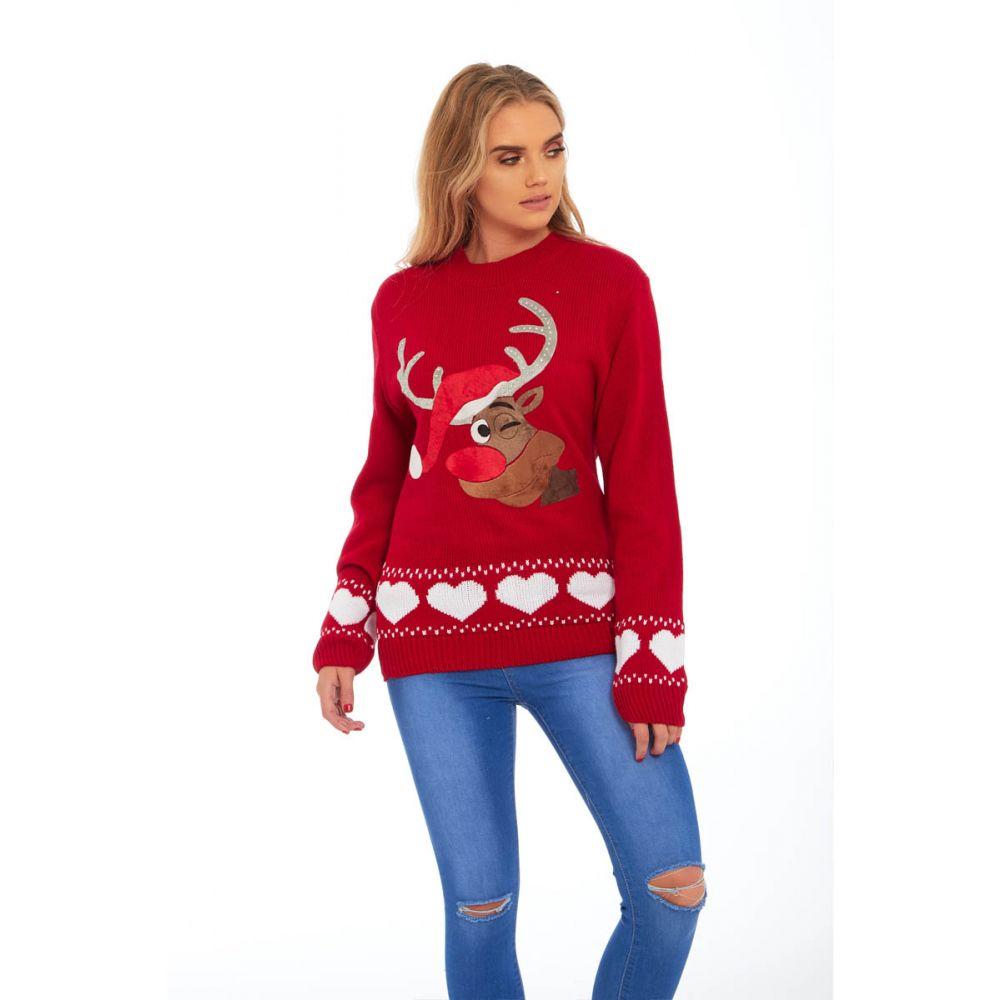 Dámský vánoční svetr s aplikací soba empty e0854f7844