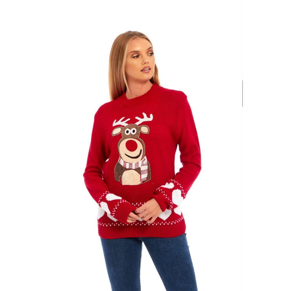 Dámský vánoční svetr s aplikací soba empty 5e0a45950a