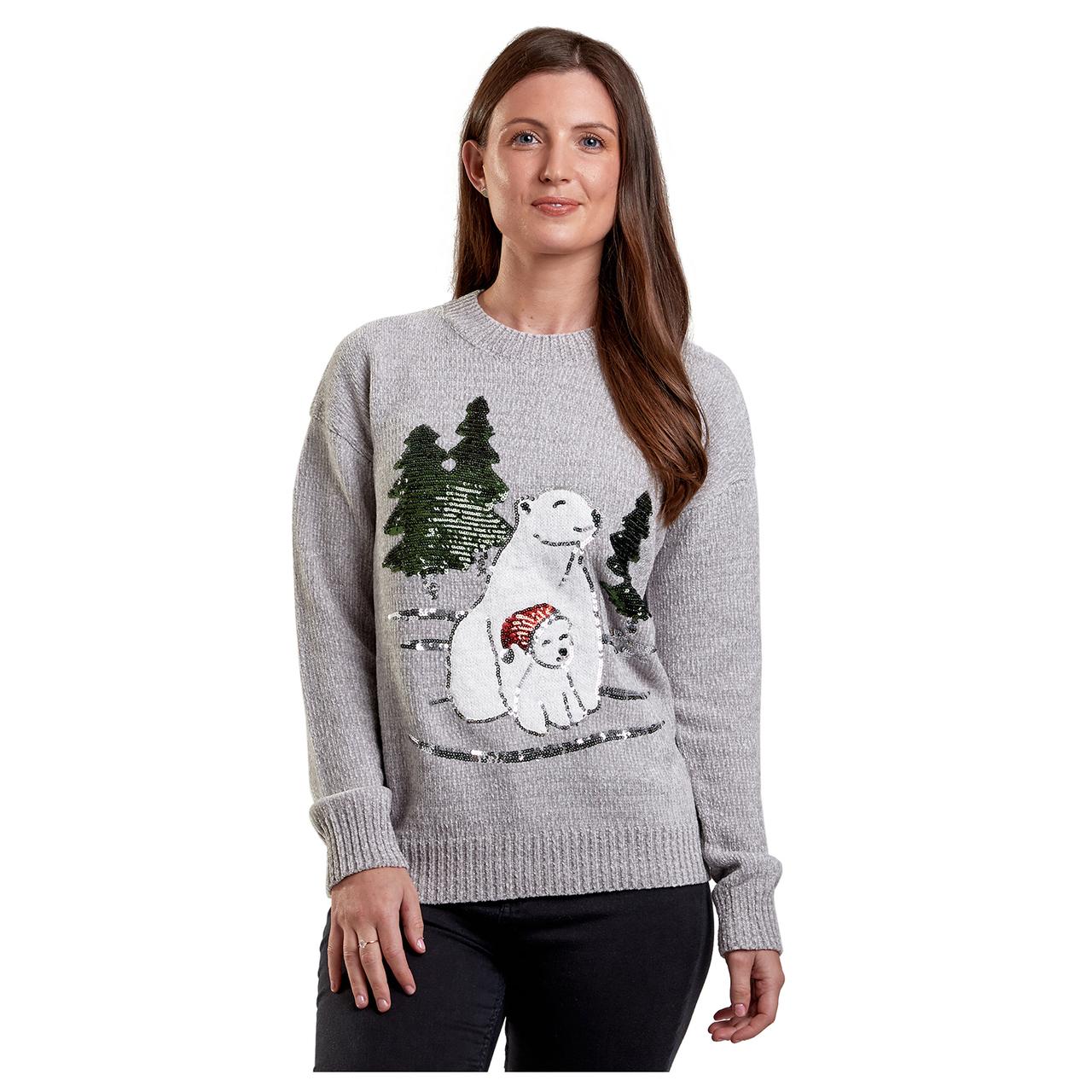 Lední medvídci dámský svetr s aplikací