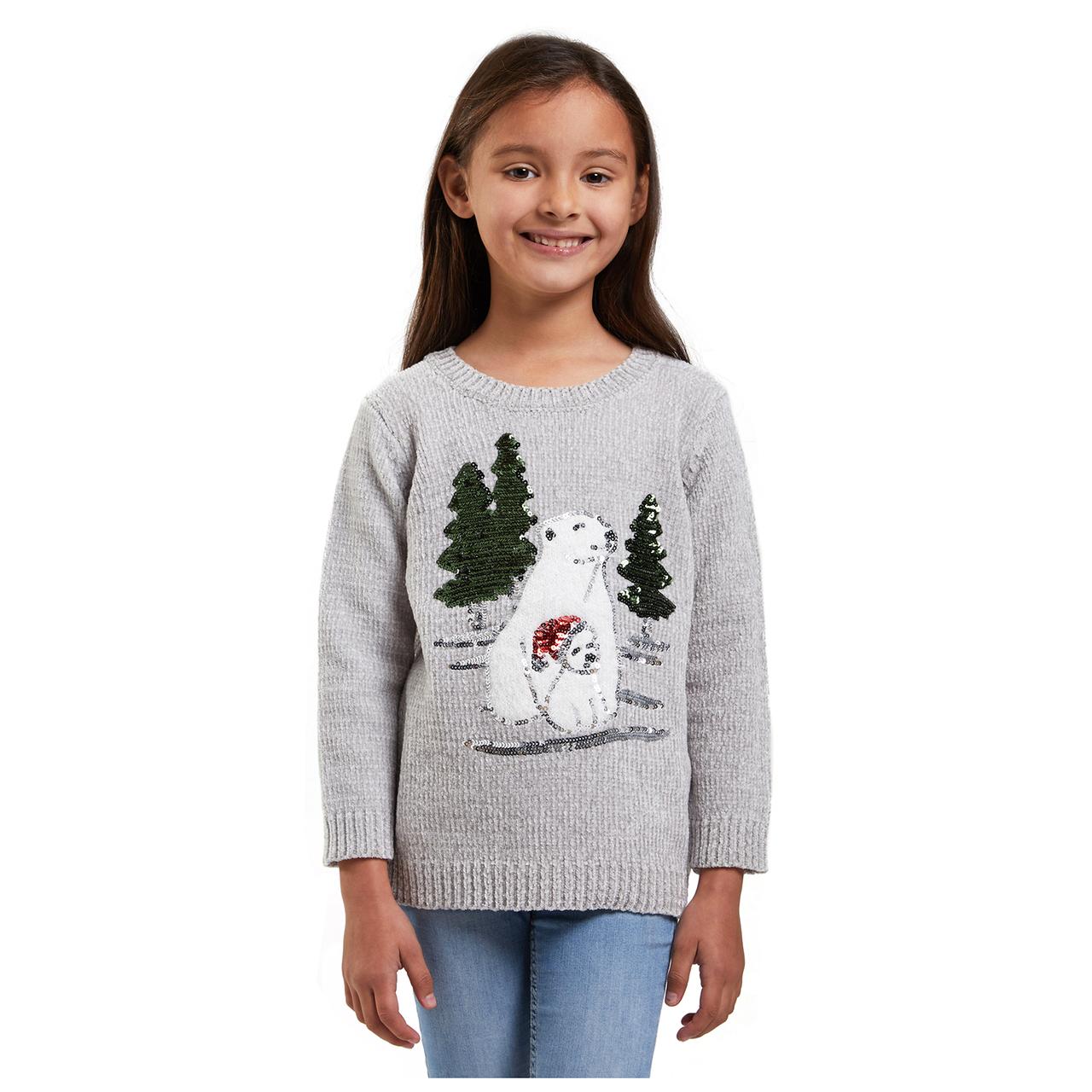 Lední medvídci dívčí svetr s aplikací