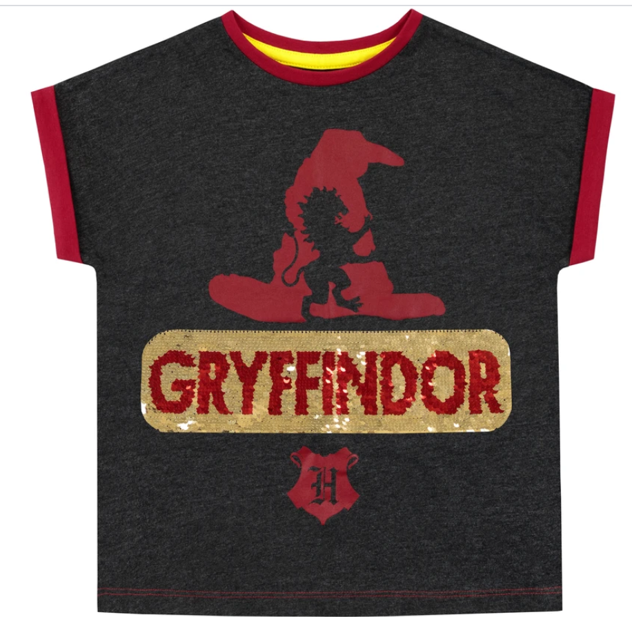 Harry Potter tričko Gryffindor s flitry