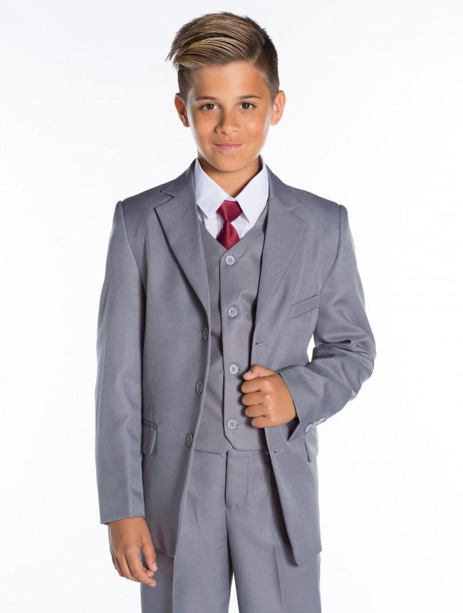 Chlapecký oblek ALex pětidílný šedý empty 220f578469
